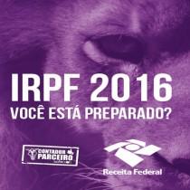CONFIRA AS NOVAS REGRAS PARA ELABORAÇÃO DO IRPF 2016.